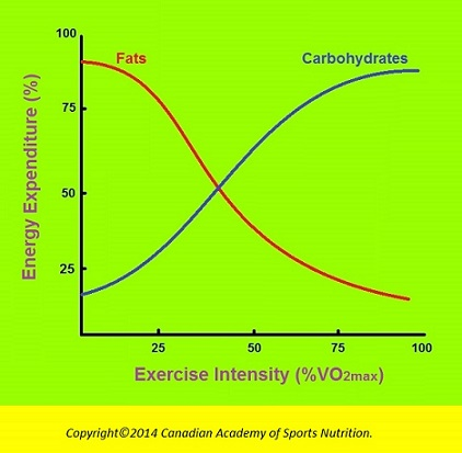 Canadian Academy of Sports Nutrition Exercise intensity 2